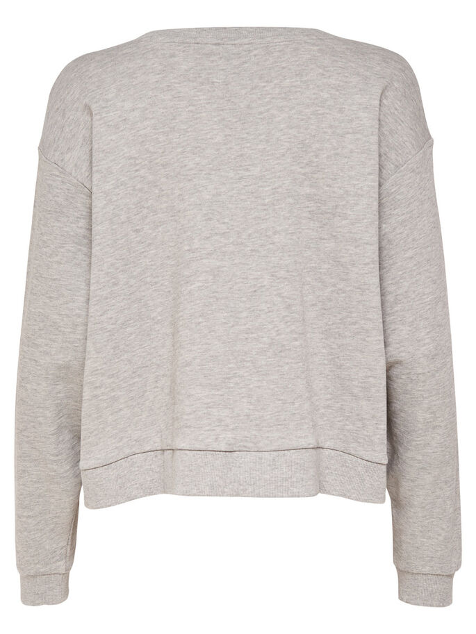 OVERSIZE- SWEATSHIRT, Light Grey Melange, large