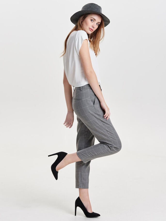 GERUITE BROEK, Medium Grey Melange, large
