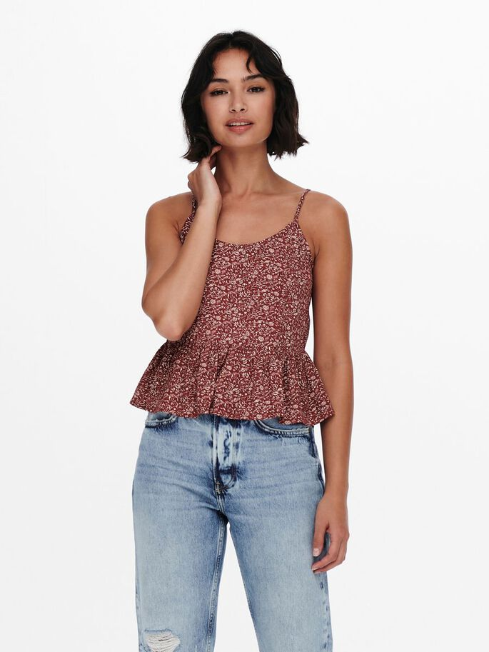 PRINT TOP, Roasted Russet, large