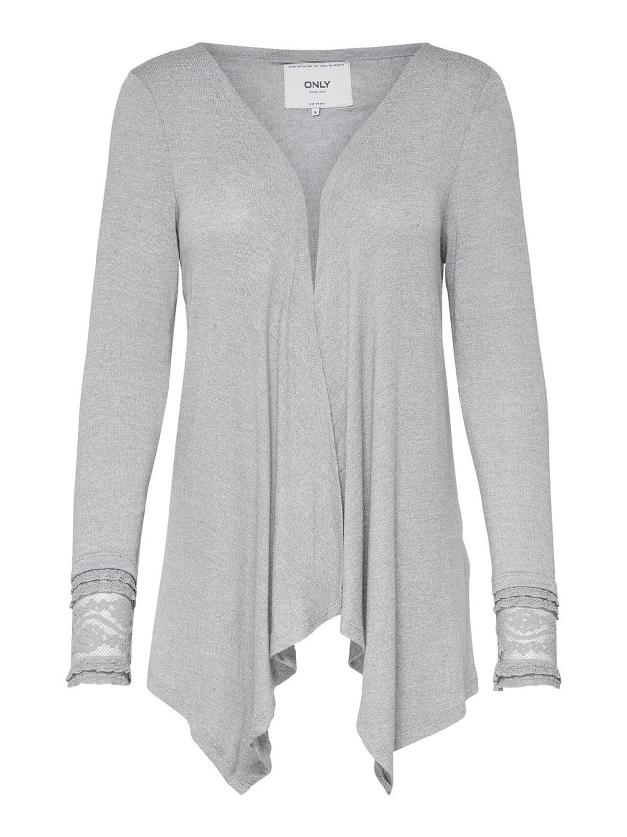 ONLY Long Sleeved Cardigan Women Grey