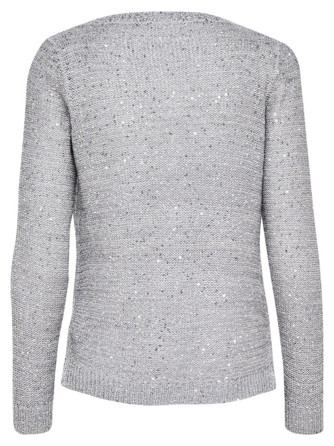 LÄSSIGER STRICK-CARDIGAN, Light Grey Melange, large