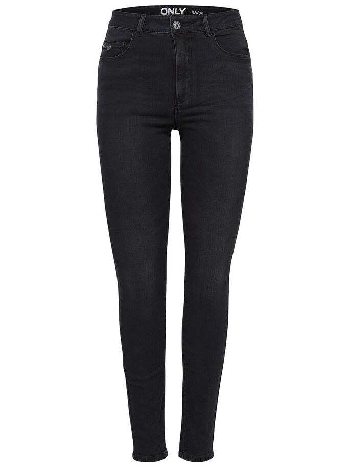 PIPER HIGH WAIST SKINNY FIT JEANS, Black, large