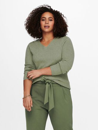 CURVY KNITTED PULLOVER