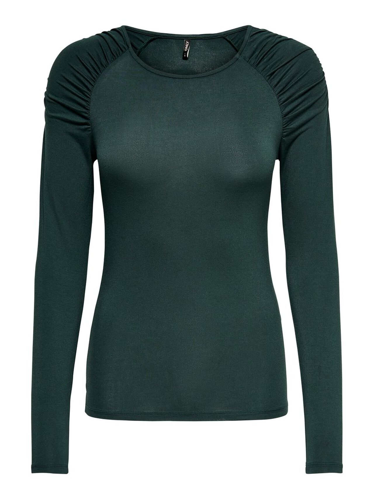 ONLY Wrinkle Long Sleeved Top Women Green