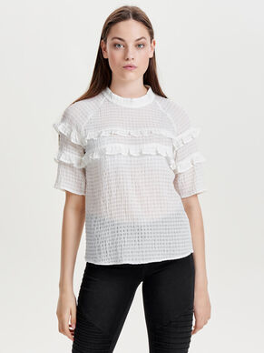 FRILL 2/4 SLEEVED BLOUSE