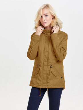 SHORT CANVAS PARKA COAT