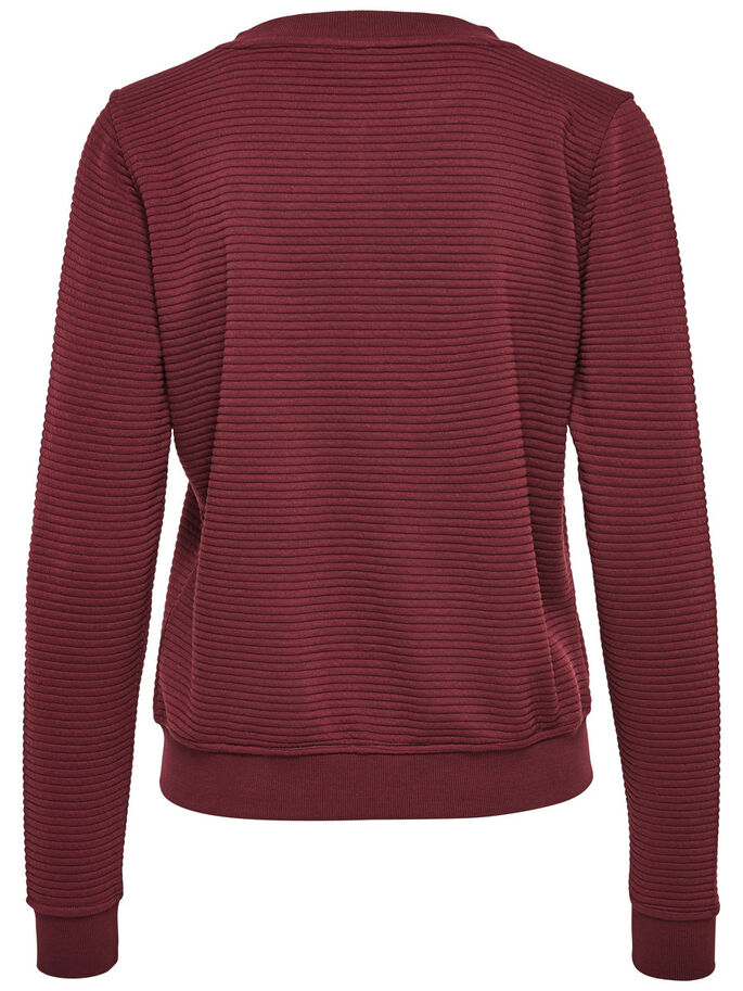 SWEAT CARDIGAN, Zinfandel, large