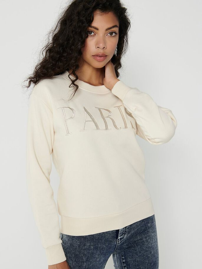STATEMENT SWEATSHIRT, Tapioca, large