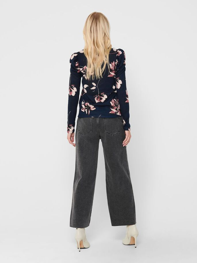 FLORAL TOP, Night Sky, large