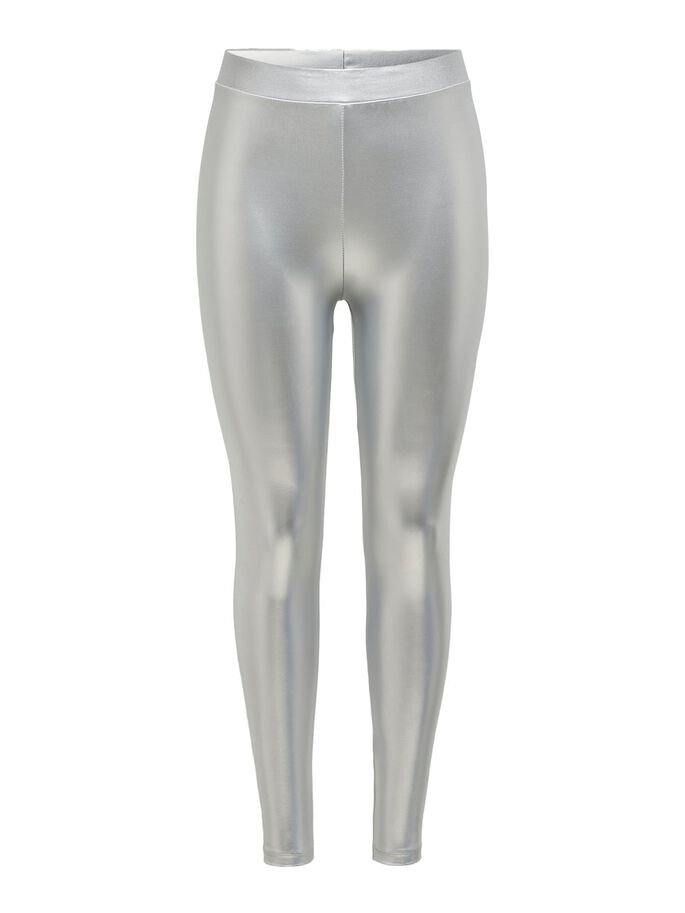 SHINY LEGGINGS, Silver Colour, large