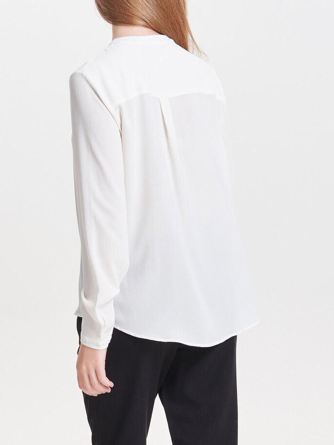 BOW LONG SLEEVED TOP, Cloud Dancer, large