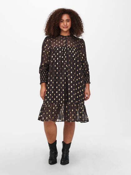 CURVY DOTTED DRESS