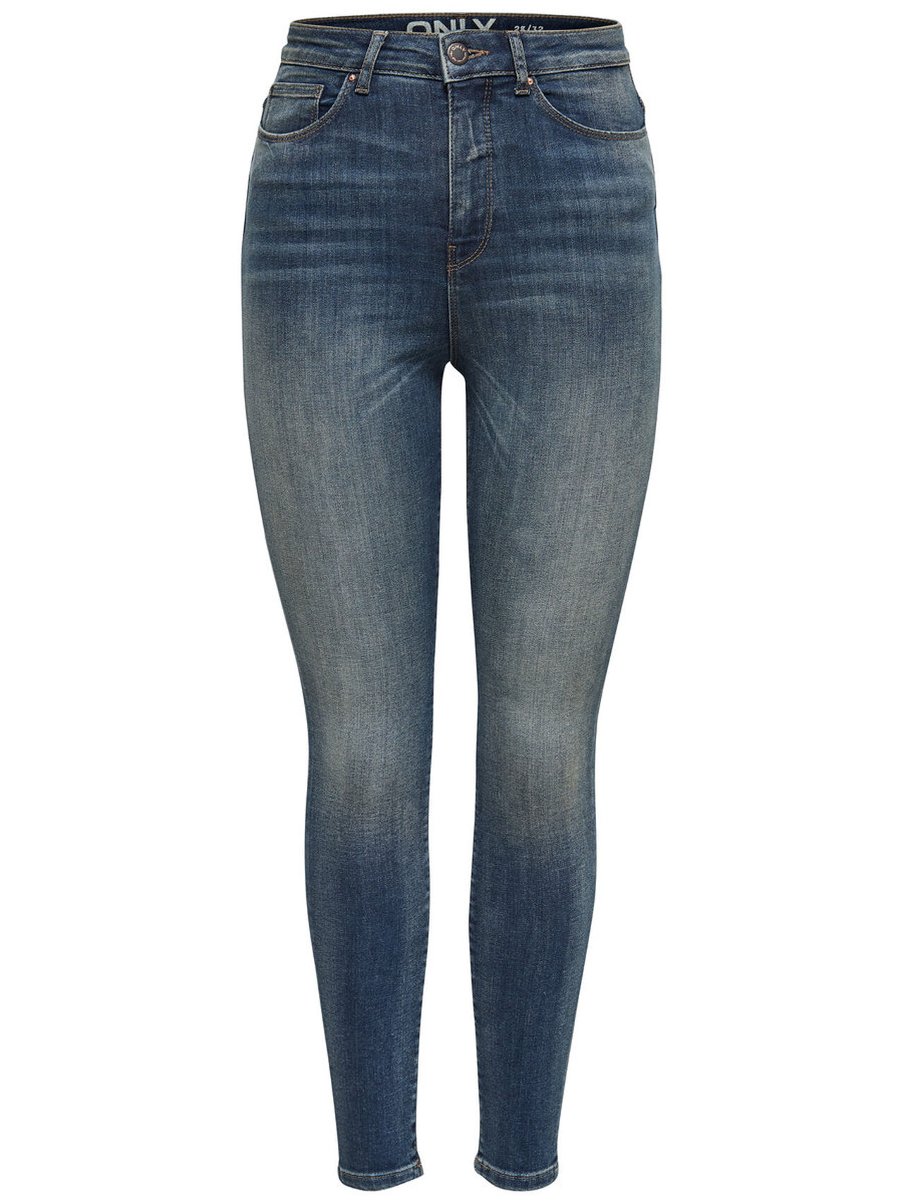 ONLY Posh Hw Ankle Skinny Jeans Dames Blauw