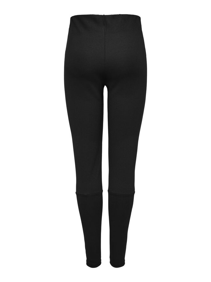 SOLID COLORED LEGGINGS, Black, large
