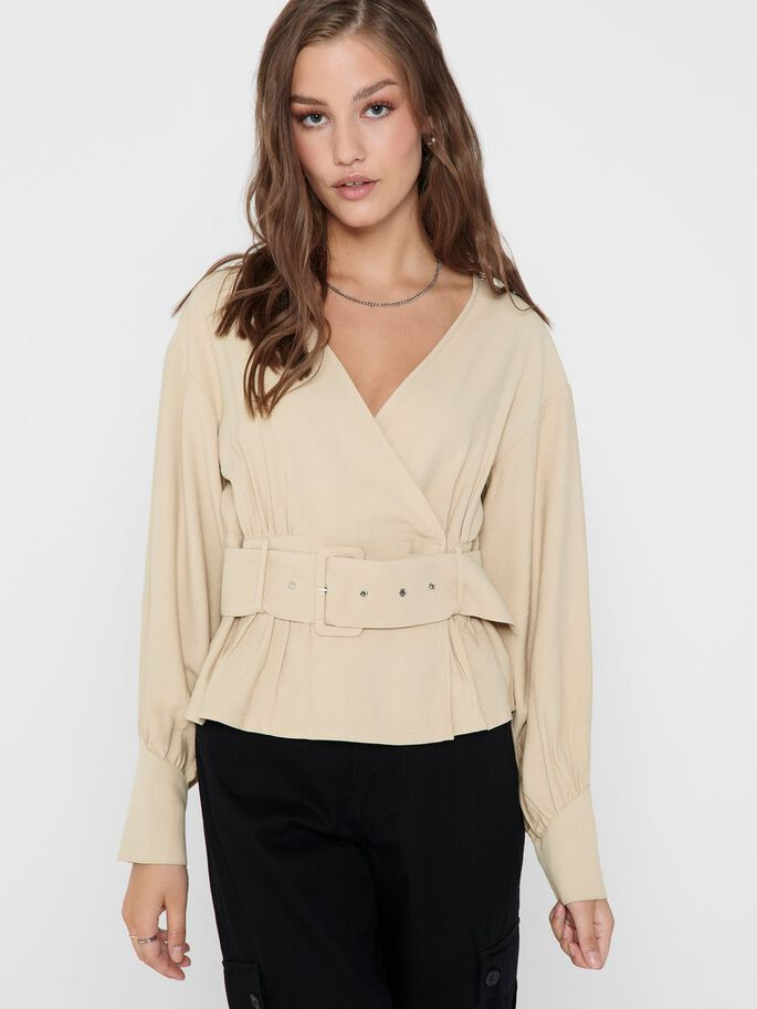 BELT TOP, Sand, large