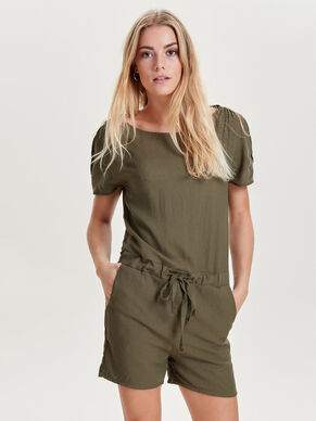 KORTE MOUW PLAYSUIT