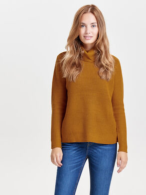 ROLLNECK KNITTED PULLOVER