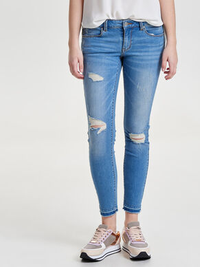 CARRIE LOW ANKLE SKINNY FIT JEANS