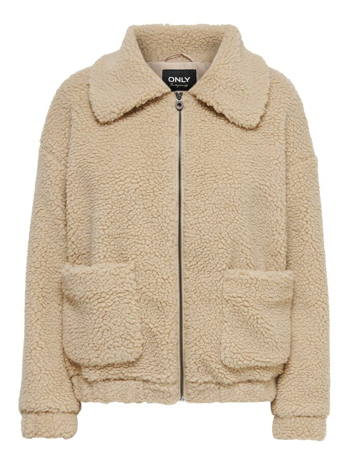 SHERPA JACKET, Cuban Sand, large