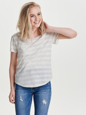 STRIPED SHORT SLEEVED TOP