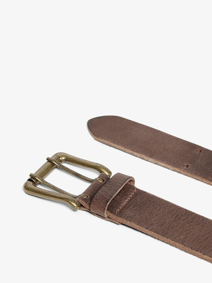 LEATHER BELT, Brown Patina, large