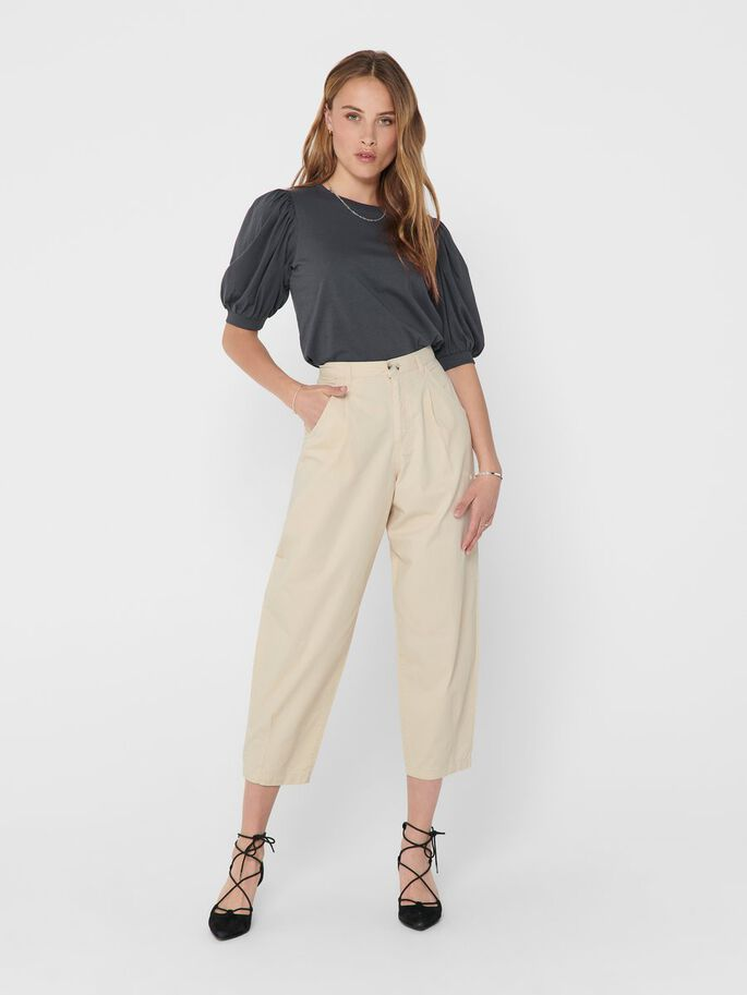 WIDE TROUSERS, Tapioca, large