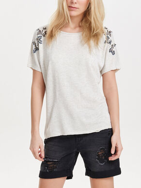 SWEAT SHORT SLEEVED TOP