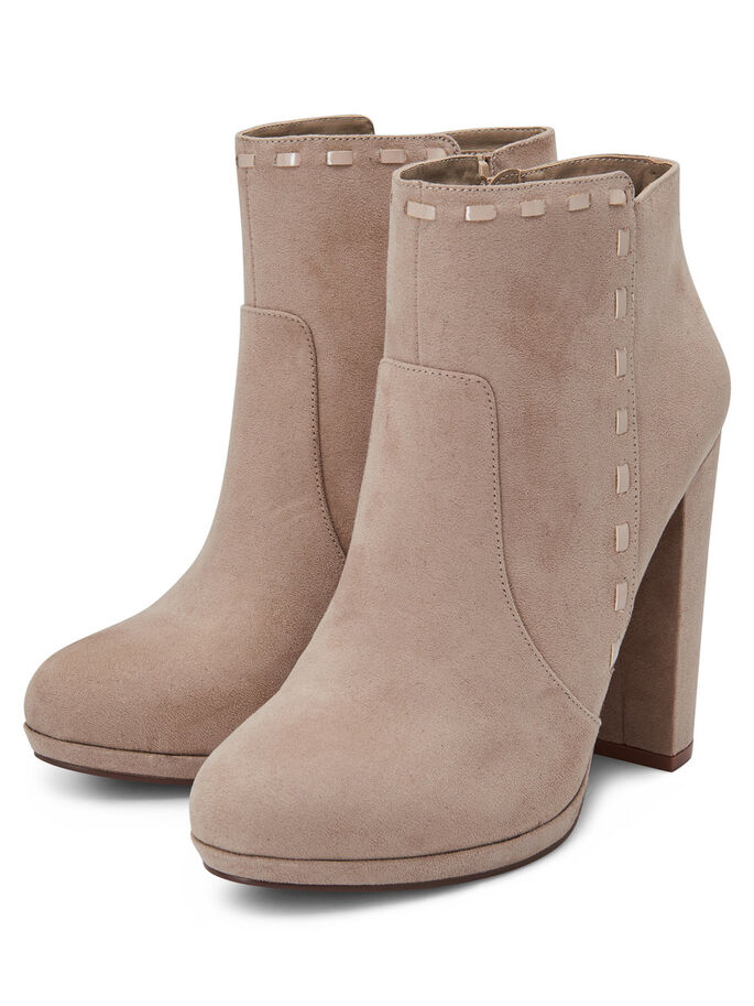HIGH HEELED BOOTS, Taupe Gray, large
