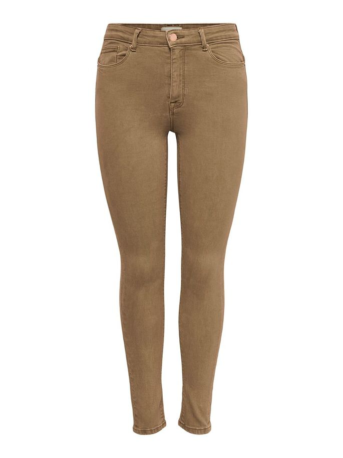 ONLPAOLA LIFE HW ANKLE SKINNY FIT JEANS, Toasted Coconut, large