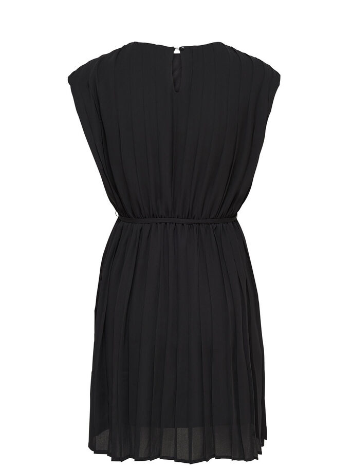 DETAILED SHORT SLEEVED DRESS, Black, large