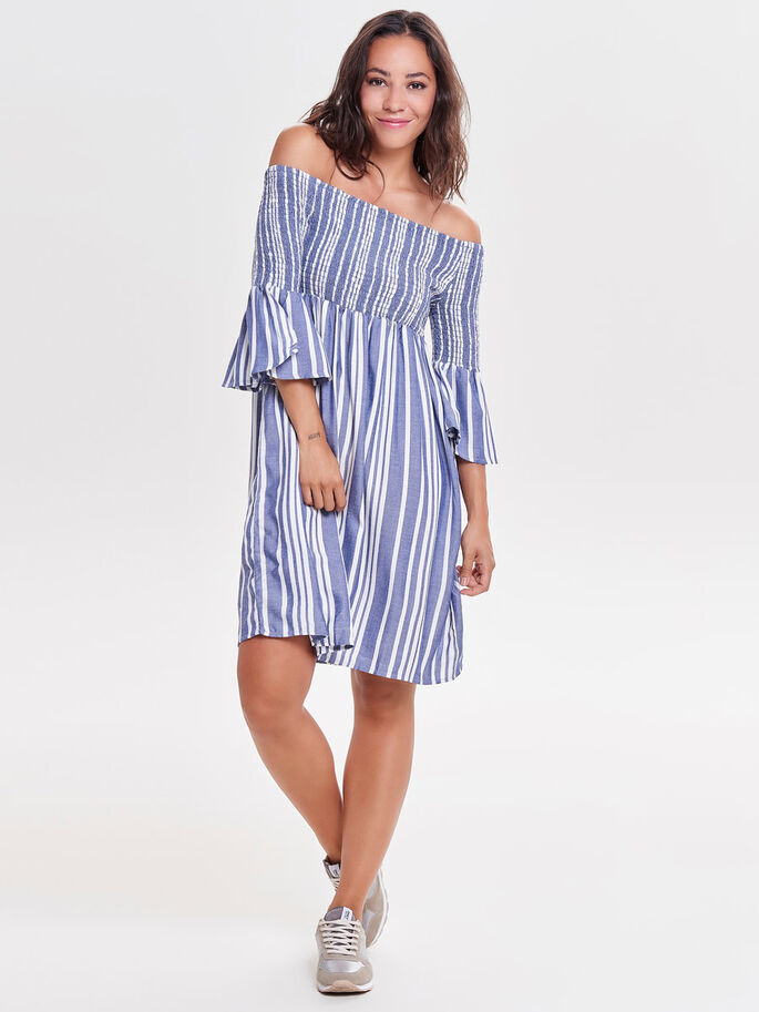 1b62697ef63d3b Off-shoulder jurk