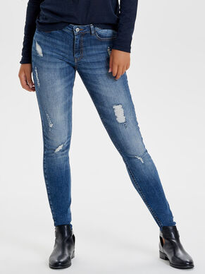 JDY FLORA REG DESTROYED SKINNY FIT JEANS