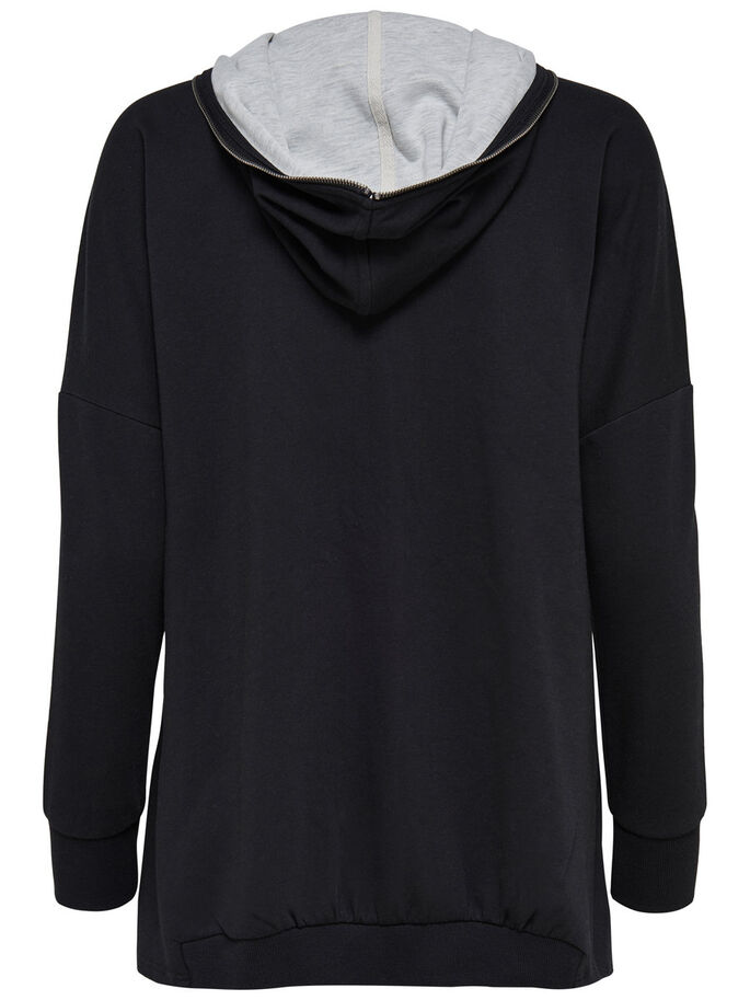 LØS SWEATJAKKE, Black, large