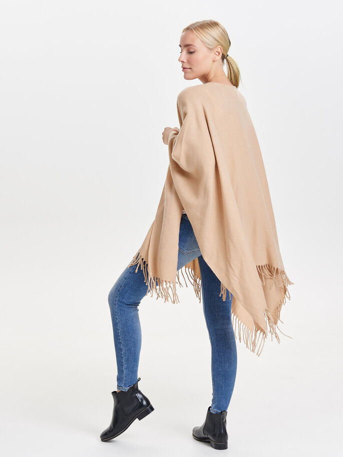COULEUR UNIE PONCHO, Ginger Root, large