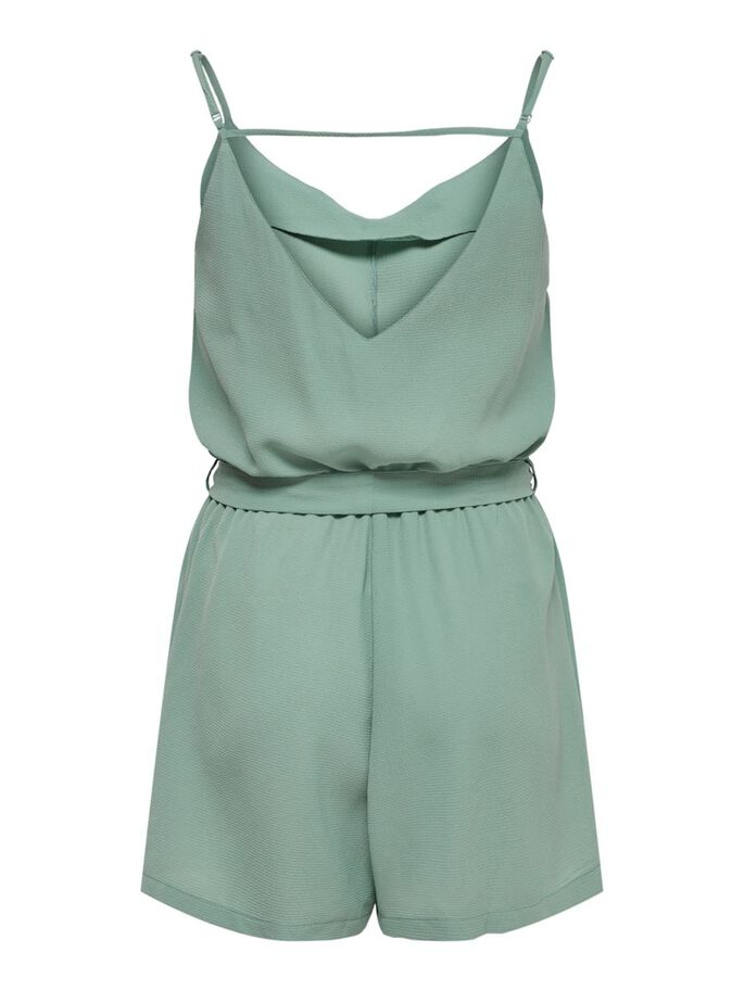 TIE BELT PLAYSUIT, Chinois Green, large