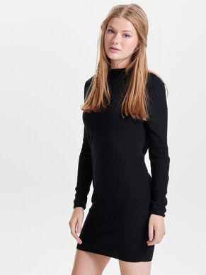 SOLID KNITTED DRESS