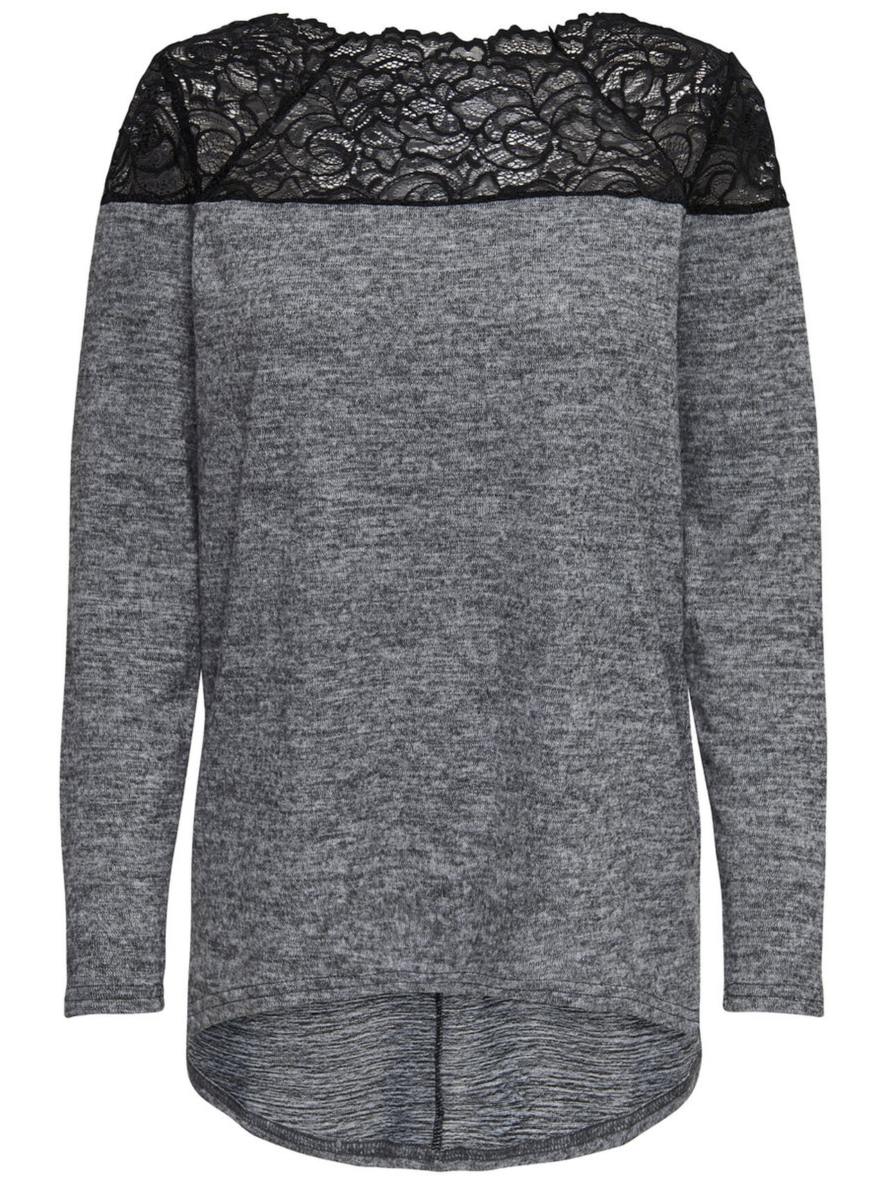 ONLY Lace Long Sleeved Top Women Grey