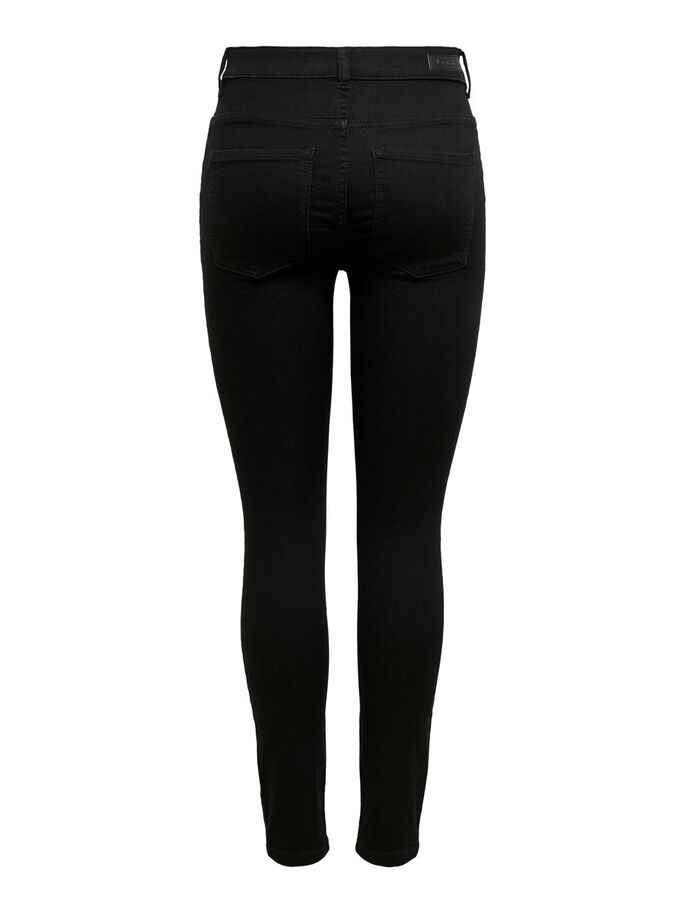 JDYNEW NIKKI LIFE HIGH SKINNY FIT JEANS, Black Denim, large