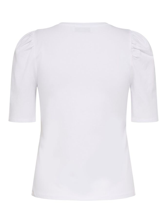 PUFF SLEEVE TOP, White, large