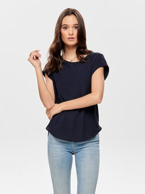 LOOSE FIT TOP MET KORTE MOUWEN