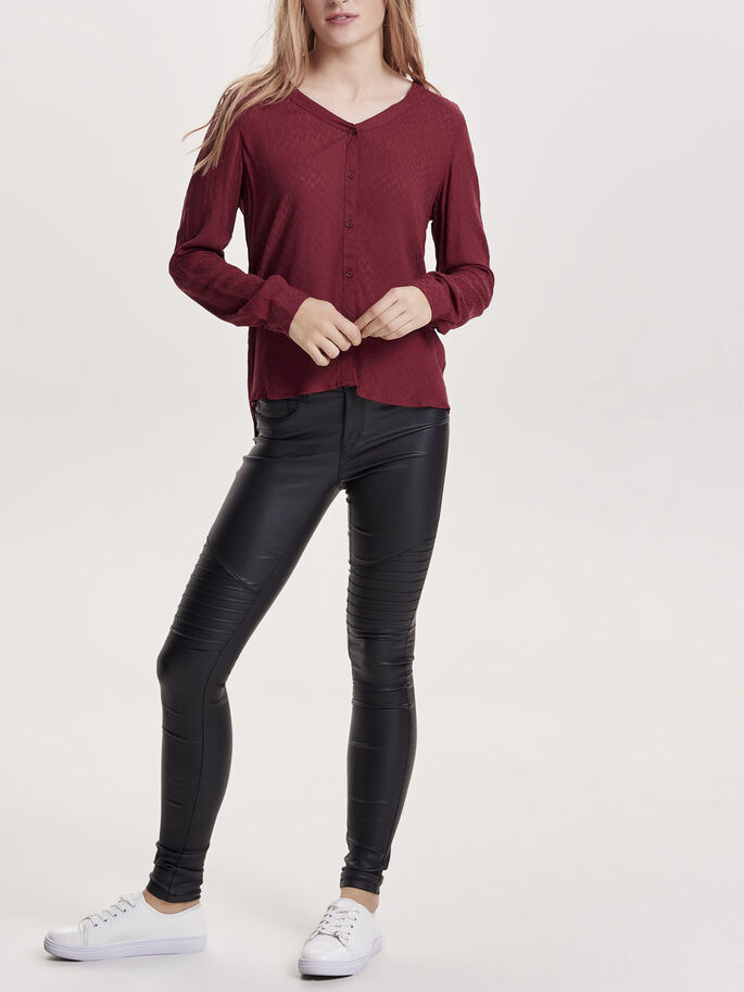 DETAILED LONG SLEEVED TOP, Syrah, large