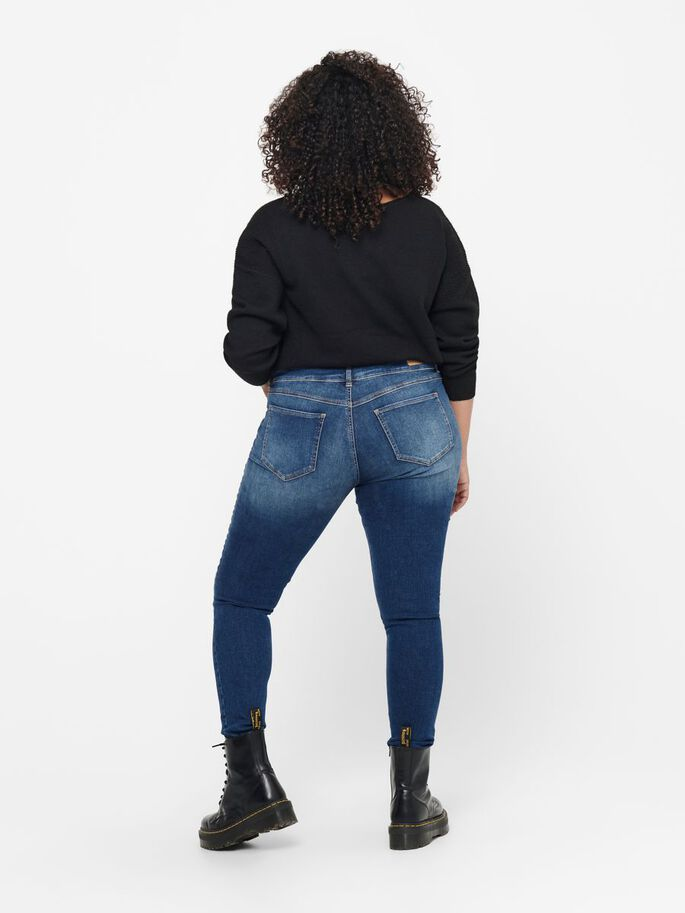 CURVY CARANNABEL LIFE HW SKINNY FIT-JEANS, Dark Blue Denim, large