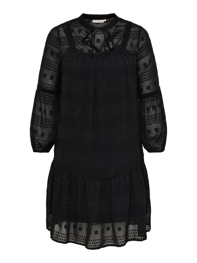 CURVY LOOSE FITTED DRESS, Black, large