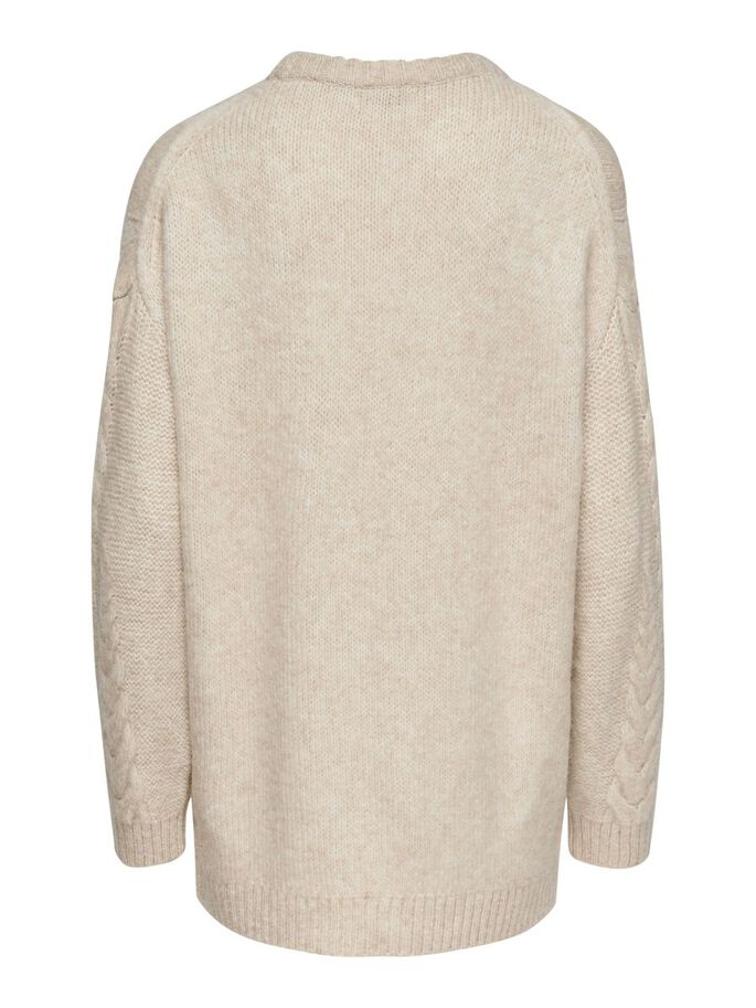 STRUCTURED KNITTED PULLOVER, Pumice Stone, large