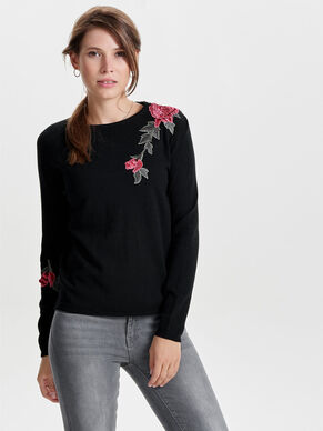 EMBROIDERY KNITTED PULLOVER