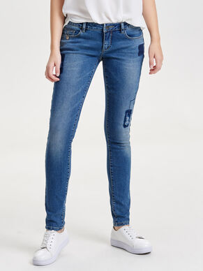 CORAL PATCH SUPERLOW SKINNY FIT JEANS