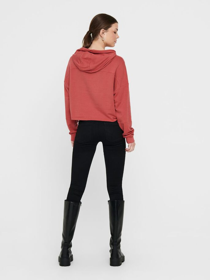 STATEMENT HOODIE, Mineral Red, large