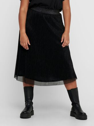 CURVY MESH KNEE-LENGTH SKIRT