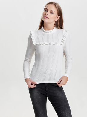FRILL KNITTED TOP