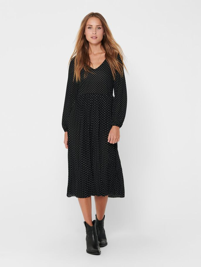 LONG DRESS, Black, large